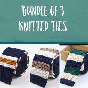 Accessories - Bundle of 3 Preppy Striped Ties - NWOT v4